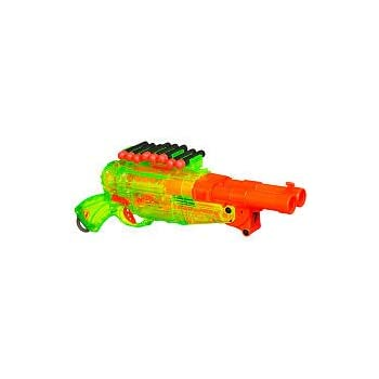 I was at Toys R Us because I am a giant child and I can't help but check  out the Nerf guns when I saw the Nerf Barrel Break.