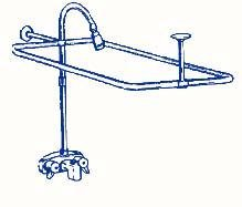 Clawfoot Tub Shower Faucet & Rectangular Combo Set by Myplumbingstuff