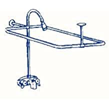 R2200A Clawfoot Tub Shower Faucet and Rectangular Combo Set