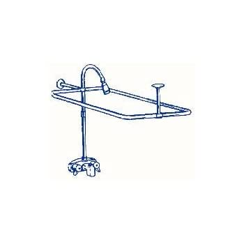 RA Clawfoot Tub Shower Faucet And Rectangular Combo Set - Clawfoot tub shower fixtures
