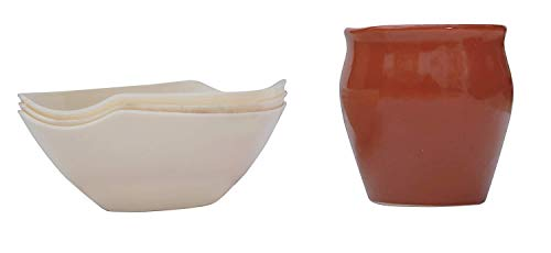 QUALITYZONE Ceramic Kullad Cup and Bowl  6 Cups 3 Bowls