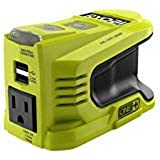 RYOBI 150-Watt Powered Inverter Generator, with 2 USB Ports and One 120-Volt Outlet, Compact,Lightweight, and Convenient On-T