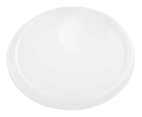 Rubbermaid Commercial Products 1980259 Rubbermaid Commercial Plastic Food Storage Container Lid, Round, White, 8 Quart