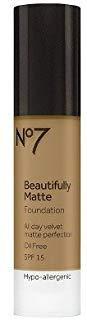 No7174; Beautifully Matte Foundation SPF 15 Honey - 1oz Honey