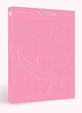 K-POP BTS - 2019 New Album [MAP of The Soul : Persona] (version 01) CD + Mini Book + PhotoBook + Photocard + Postcard + Photo Film + Clear Photo Picket + Folded Poster + Extra PhotoCard SET