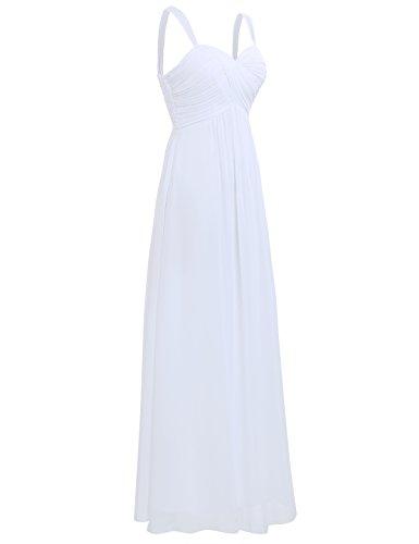 9342bc215f2f ... iEFiEL Elegant Damen Kleider Sommer Chiffon Kleid Lang Cocktailkleid  Abendkleider Hochzeit Party Kleider Gr. 36 ...
