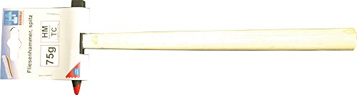 Haromac Fliesenhammer, spitz,  75 g, Hartmetallspitze, 05205175