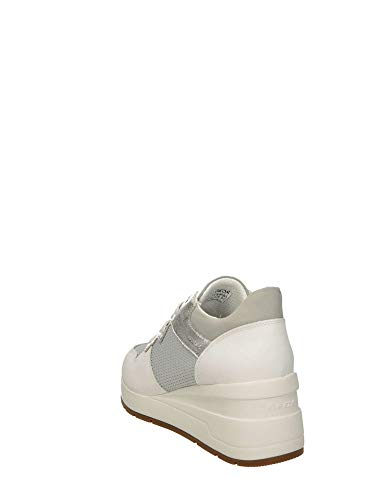 0ly22 Sneakers Geox D828lc C5xbnqarwa Silver Donna m8nON0vw