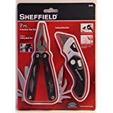 Two piece precision tool set, multi tools (No Belt Pouch) folding utility knife and folding multi tool 12-in-1