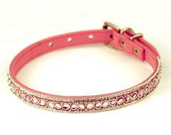 Diamond Dogs Serpentine Beaded Bridle Leather Dog Collar (Medium)