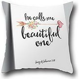 Robert Beautifulthrow Pillow Case Covers Home Christian Bible Verse Indoor/outdoor Cover Cute Pillow Covers Decorative 16*16