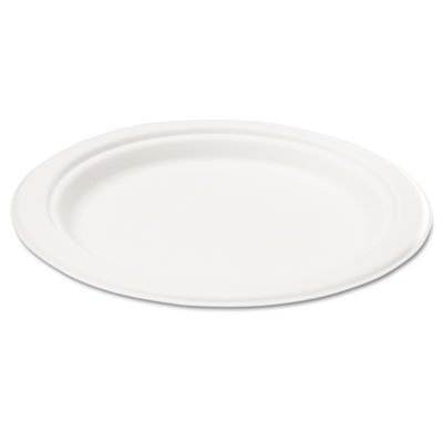 Compostable-Sugarcane-Bagasse-10-inch-3-Compartment-Plates-Round-White-50-plates-per-pack
