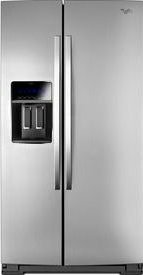 (Whirlpool® 36-inch Wide Side-by-Side Refrigerator with StoreRight™ Dual Cooling System - 25 cu. ft.)