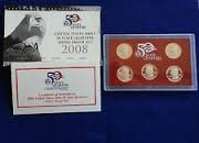 2008 50 State Quarters Silver Proof Set OGP COA