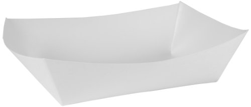 Southern Champion Tray 0557 #500 Paperboard Food Tray / Bowl / Boat, 5 lb Capacity, White (Pack of 500)