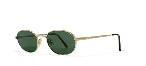 Moschino M3026 515 Gold Flat Lens Vintage Sunglasses round For Mens and - Moschino Sunglasses Men