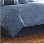 - Nautica Dust Ruffle Solid Navy Blue Cal King Bedskirt