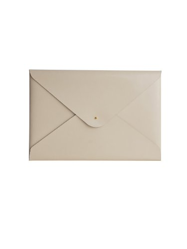 (Paperthinks 9 x 13-Inches Shiny Ivory Recycled Leather File Folder (PT00939))