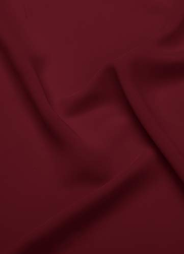 AW Chiffon Fabric by The Yard Solid Fabric for Sewing Premium Chiffon Fabric Cloth for Dresses,Jester Red ()