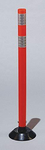 Delineator Post, 28'' Delineator Height, Orange, Polyurethane, 1 EA