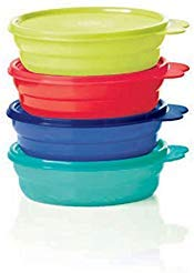 Tupperware Microwave Cereal Bowls 2018 Red, Green, Blue, Emberglow from Tupperware...