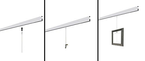 Clip Rail White Gallery Picture Hanging System Stas