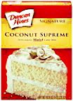(Duncan Hines SIgnature Deliciously Moist Coconut Supreme Cake Mix, 16.5 oz (3 Pack) )