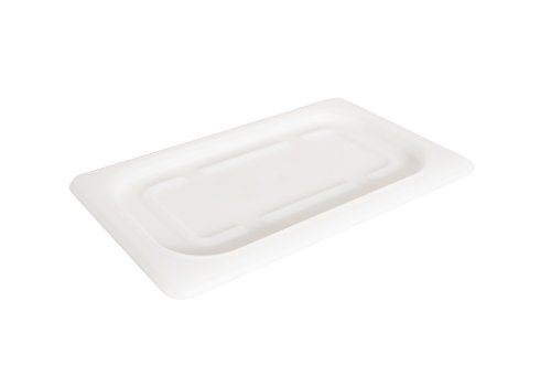 Rubbermaid Commercial Products Cold Food Soft Seal Lid, 1/4 Size, White (FG144P00WHT)