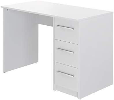 Marca Amazon -Movian Idro Modern - Escritorio con 3 cajones, 56 x 110 x 73,5 cm (blanco) 20