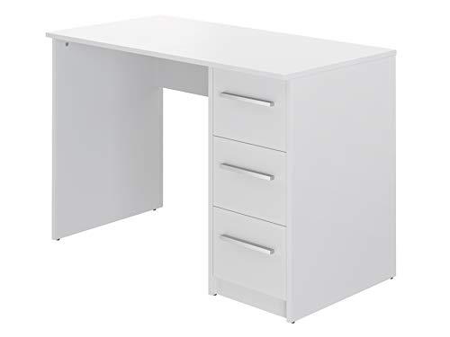 Marca Amazon -Movian Idro Modern - Escritorio con 3 cajones, 56 x 110 x 73,5 cm (blanco)