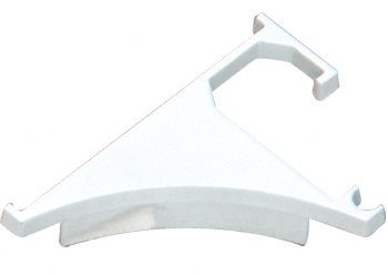 C.R. LAURENCE END38W CRL White End Cap for 3/8