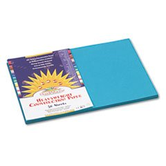(-- Construction Paper, 58 lbs., 12 x 18, Turquoise, 50 Sheets/Pack)