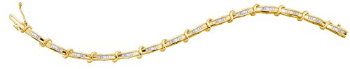 1 Total Carat Weight BAGGUETTE DIAMOND LADIES FASHION BRACELET by Jawa Fashion