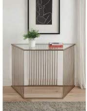 onEveryBaby Sofa Table in Champagne & Clear Glass