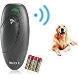 Petacc Handheld Ultrasonic Bark Control Dog Barking Stopper Dog Trainer with Anti-Static Wrist Strap (Grey)