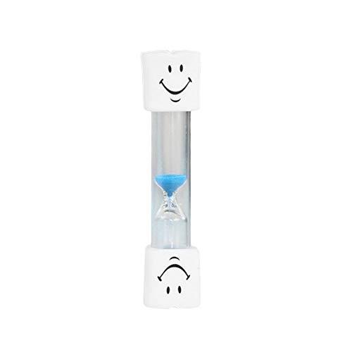 Beau Sourire Visage minuterie Enfants 3 Minutes Brosse à Dents Brosse minuterie Mini Visage Souriant sablier Horloge minuterie de Sable - Bleu