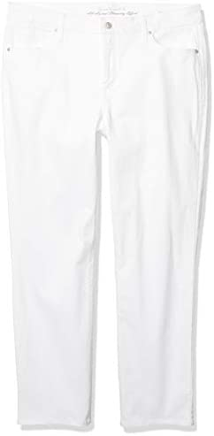 Gloria Vanderbilt Women's Rail Straight Leg Jean, White, 6