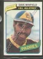 (1980 Topps Regular #230 Dave Winfield, San Diego Padres Baseball Card)