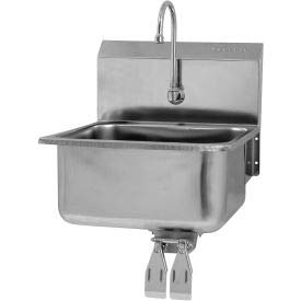 SANI-LAV 525L Wall Mount Sink With Double Knee Pedal Valve Double Knee Pedal Valve