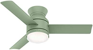 Hunter Dublin Low Profile Indoor Ceiling Fan with LED Light and Remote Control, 44 , Dusty Green