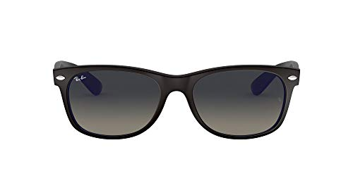 Ray-Ban RB2132 New Wayfarer Sunglasses, Matte Black/Grey Gradient, 55 mm (So Nice To See Your Face Again)