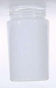 Cylindrical Shade - White Cylindrical Glass Shade - 3-11/64-Inch Fitter Opening