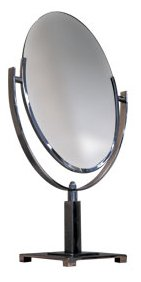 - Oval Mirror Counter Display with Parsons Base - MIR-PB1014