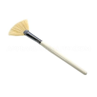 Appearus Natural Bristle Facial Mask Fan Brush (3 Count/SB4011x3)