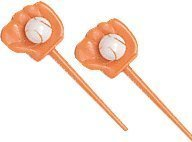 A1BakerySupplies 24 count Cup Cake Toppers CupCake Favors (Baseball Gloves and (Baseball Cupcake)