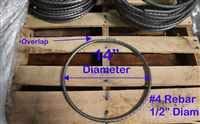 10 Diameter with Overlap Pack of 10 Rebar Rings #3