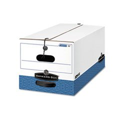 ** Liberty Max Strength Storage Box, Legal, 15 x 24 x 10, White/Blue, 12/Carton **