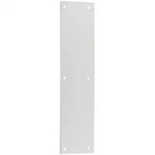 National Hardware V1981 3-1/2 X 15 Push Plate in Satin Nickel by National
