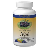 Full Spectrum Acai, 60 Cap by Planetary Herbals (Pack of 6) by Planetary Herbals