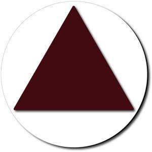 California All Gender Restroom Door Sign Color Reverse-Brown//White 1 Unit